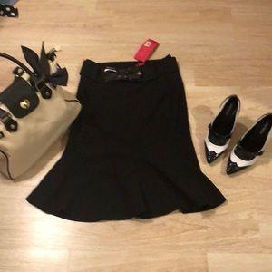 Adorable black a line rockabilly pinup skirt new 2